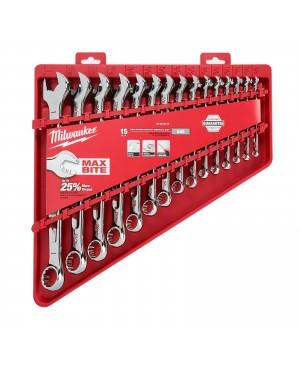 15pc Combination Wrench Set - SAE