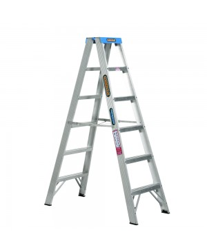 Gorilla Double Sided A-Frame Ladder 1.8M (6ft) Aluminium 120kg Industrial