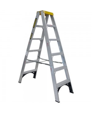 Gorilla Double Sided A-Frame Ladder 1.8M (6ft) Aluminium 150kg Industrial