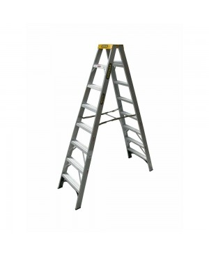 Gorilla Double Sided A-Frame Ladder 2.4M (8ft) Aluminium 150kg Industrial