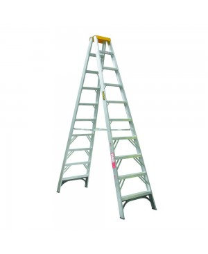 Gorilla Double Sided A-Frame Ladder 3.0M (10ft) Aluminium 150kg Industrial