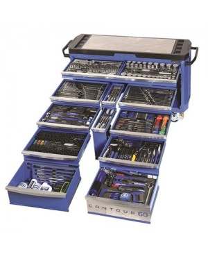 """Kincrome Tools Only - Contour® 60 Tool Trolley 500 Piece 1/4, 3/8 & 1/2"""" Square Drive"""