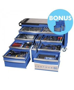 """Kincrome Contour® 60 Tool Trolley 372 Piece 1/4, 3/8 & 1/2"""" Square Drive"""