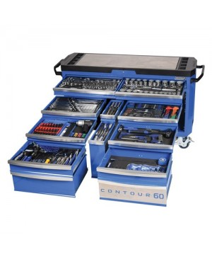 """Kincrome Contour® 60 Tool Trolley 500 Piece 1/4, 3/8 & 1/2"""" Square Drive"""