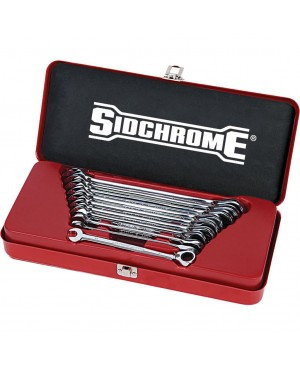 Sidchrome 10 Piece Pro Series Geared Spanners Set – Metric