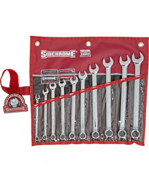 Sidchrome 10 Piece Ring & Open End Spanner Set – Metric