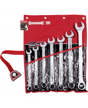 Sidchrome 7 Piece Ring & Open End Spanner Set – Metric