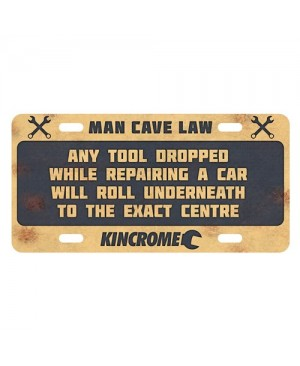 Kincrome Retro™ Sign Man Cave Law - Go Wrong
